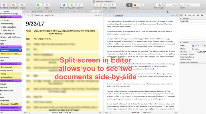 31: Scrivener for Life Story Writing